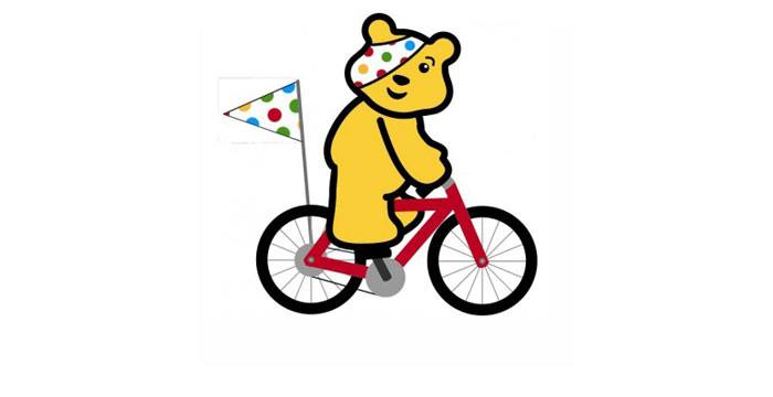 Image result for pudsey on a bike""