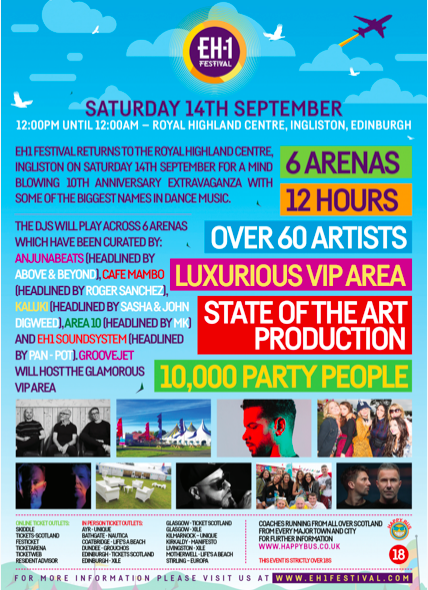 WIN Tickets to the EH1 Festival on 14th September!!