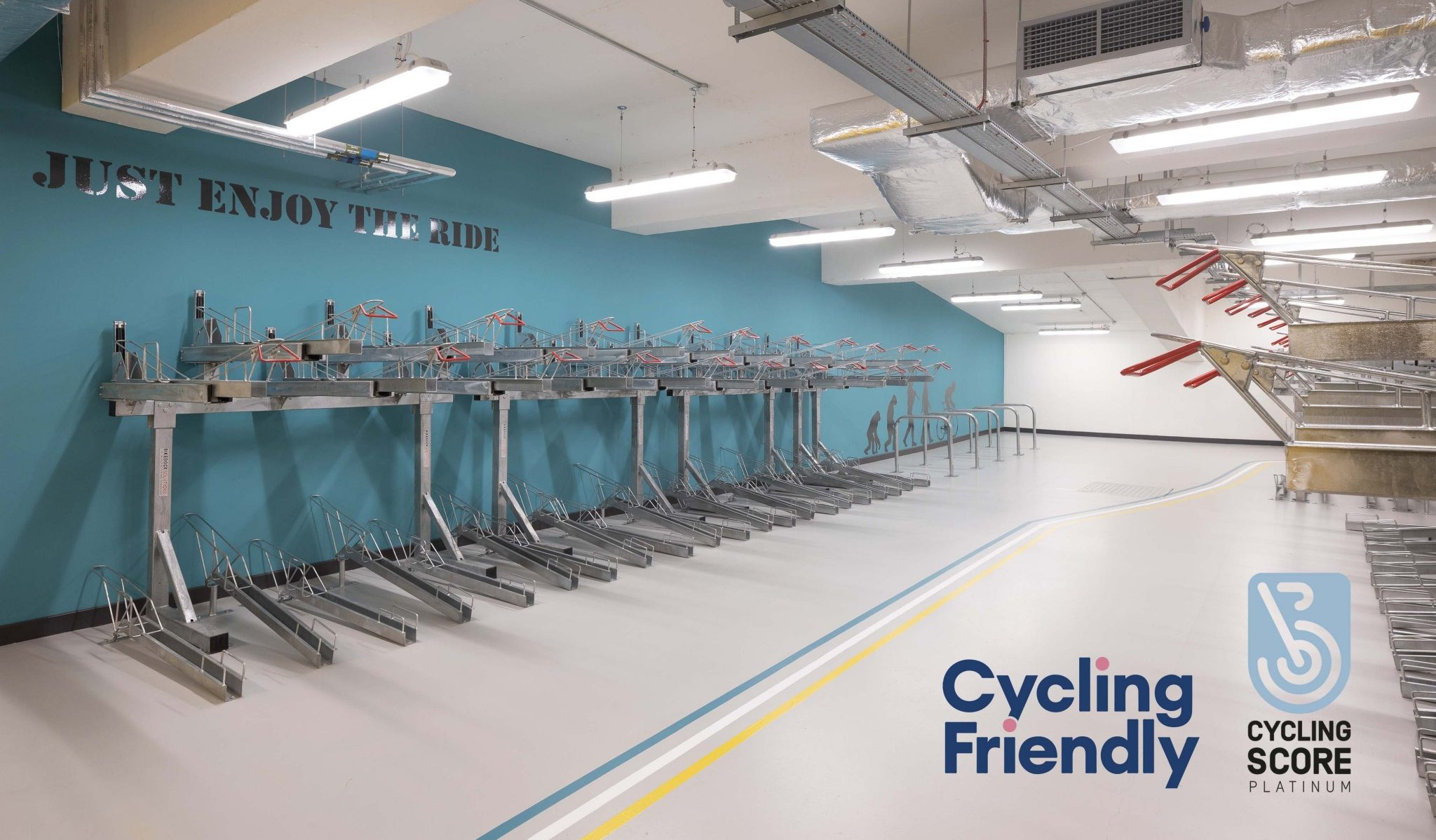 Skypark, Glasgow's biggest private business cycle facility is recognised by Cycling Scotland for making cycling to work easier